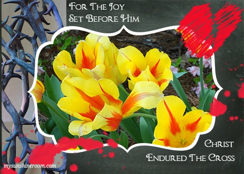 for the joy set before him picture prayer watermarked