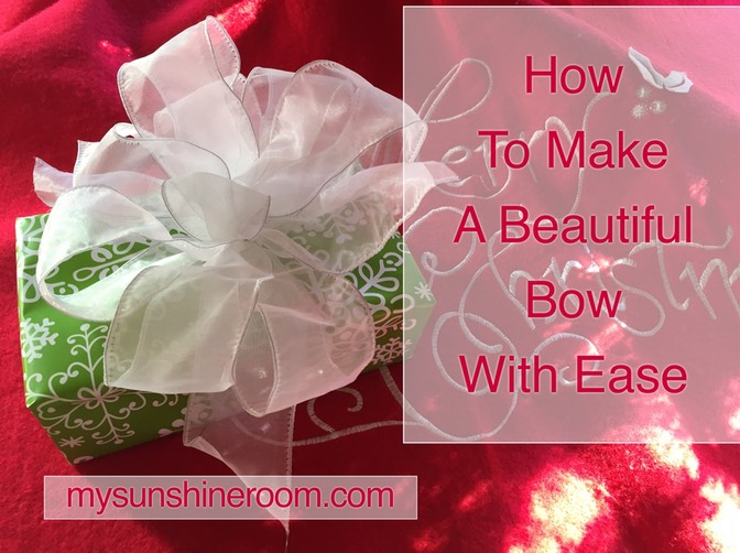How To Make A Beautiful Bow With Ease
