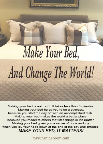 Make Your Bed, It Matters